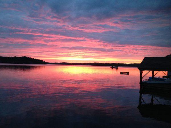 Sunset on the Lake Bonaparte