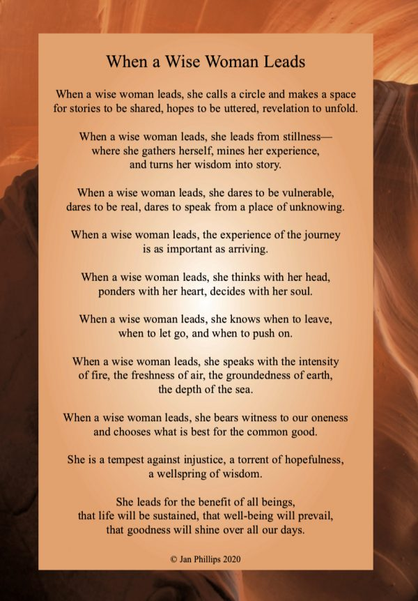 When a Wise Woman Leads