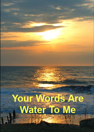 Your Words Are Water to Me